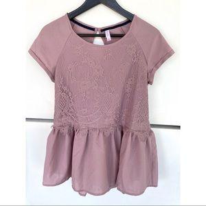 NWOT Purple Lacy Blouse